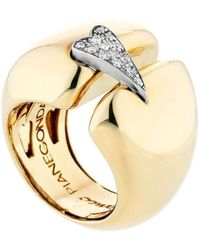 Franco Piane Designed By Franco Pianegonda Esoteric Yellow Gold Ring - Metallic