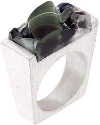 Pasionae - Murano Glass Silver Ring - Lyst