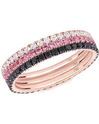 Argenton Design Rose Gold London Blue Topaz Crown Ring - UK M 1/2 - US 6 1/4 - EU 53 1/2 BT4vlzK
