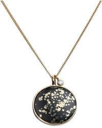 Taylor Black - 9kt Yellow Gold Stellar Large Necklace With Diamond Charm - Lyst