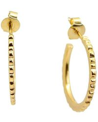 2c3ac7031 Kate Dumbleton Jewellery - Yellow Gold Plated Facet Hoops - Lyst