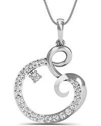 Diamoire Jewels Heart Shaped 18kt White Gold Pave Diamond Earrings soLdo