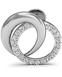 Diamoire Jewels - Pave Earrings Handmade With Premium Diamonds And Hand-carved 14kt White Gold - Lyst