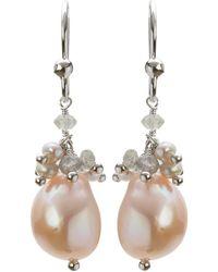 Mishanto London - Cari Sterling Silver Labradorite And Pearl Earrings - Lyst
