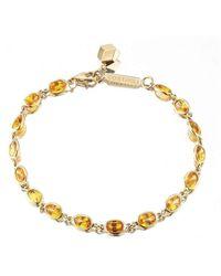 Paolo Costagli New York - Bezel Set Orange Sapphire Ombre Bracelet - Lyst