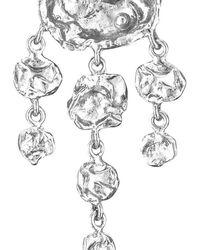 Joseph Lamsin Jewellery Sterling Silver Jelly Fish Necklace - Metallic