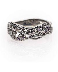Rachel Helen Designs - 18kt Fairtrade White Gold Flower Ring - Lyst
