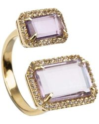 Emily Mortimer Jewellery - Electra Amethyst Ring - Lyst