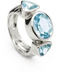 Coco & Kinney Sterling Silver Georgie Anne Ring With Blue Topaz