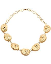 Susan Driver Yellow Gold Plated Oceania Abalone Necklace - Metallic
