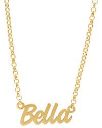 Posh Totty Designs Personalised Name Necklace Yellow Gold Plated - Metallic