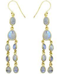 Noyre Berlin Rainbow Moonstone Chandelier Earrings - White