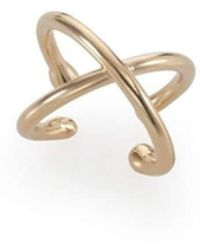Noritamy - X Plated Sterling Silver Pinkie Ring - Lyst