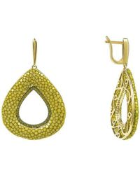 LÁTELITA London - Stingray Hollow Tear Earring Kiwi - Lyst