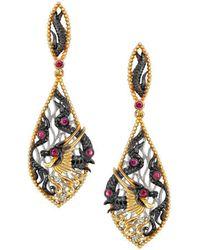 Chekotin Jewellery - Fire Element Dragon Earrings - Lyst