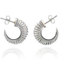 Patience Jewellery - Fern Small Hoops - Lyst