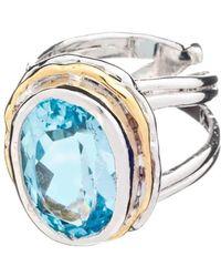 Gallardo and Blaine Designs - Magnolia Ring In Blue Topaz - Lyst