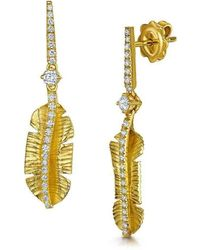 ROX - Diamonds and Thrills - Gold Tiki Diamond Earrings - 0.48ct - Lyst