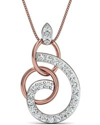 Diamoire Jewels - Hand-carved 18kt Rose Gold Pave Diamond Pendant - Lyst