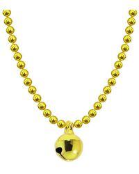 Allumer Allumette Bell Necklace - Yellow Gold - Metallic