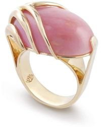 Chavin Couture - 18kt Yellow Gold Ring With Pink Opal - Lyst