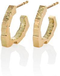 The Rock Hound 18kt Fairtrade Gold Rockstars Trigonal Hoops - Metallic