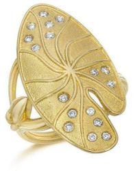 LJD Designs Lily Pad Ring - Metallic
