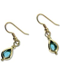 Will Bishop - Gold & Blue Topaz Drop Earrings - Lyst