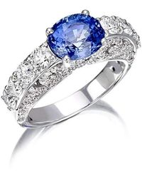Pinomanna - White Gold & Sapphire Royal Collection Ring | - Lyst