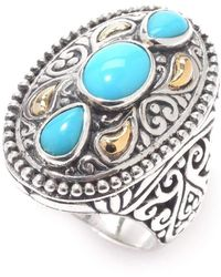Samuel B. - Scroll Work North-south Sleeping Beauty Turquoise Ring - Lyst