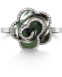 Fei Liu - Small Silver Jasmine Flower Ring With Mother Of Pearl - Lyst