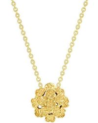 London Road Jewellery - Kew Yellow Gold Posy Cluster Pendant - Lyst
