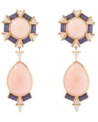 Joana Salazar Vintage Drop Earrings - Multicolour