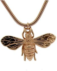 Will Bishop - 9kt Rose Gold Honey Bee Necklace - Lyst