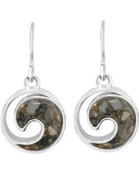 Dune Jewelry - Sterling Wave Earrings - Lyst