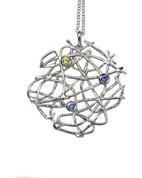 Katerina Damilos - Free Spirit Necklace Silver With Sapphires - Lyst