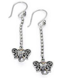 Deni Jewelry - Elephant French Wire Earring - Lyst