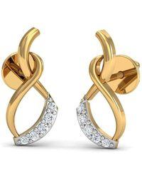 Diamoire Jewels Gusto 18kt Yellow Gold Diamond Stud Earrings 0jM6v