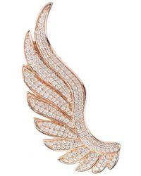 LÁTELITA London Rose Gold Plated Gabriel Angel Wing Ear Climber - Left - Multicolour