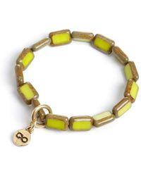 Eva Michele - Chartreuse Infinity Bracelet - Lyst
