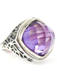 Lisa Robin Ring In Sterling Silver And Amethyst - Metallic