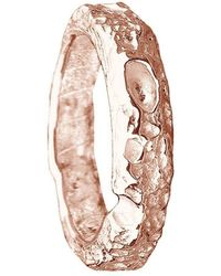 Joseph Lamsin Jewellery Cornish Beach Sand Textured 9kt Rose Gold Wedding Ring - Multicolor