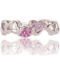 Biiju Hearts Forever Pink Sapphire Ring