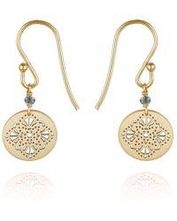 Perle de Lune - Art Deco Earrings 9kt Yellow Gold - Lyst