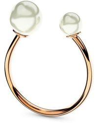 MARCELLO RICCIO - Double Rose Gold & Pearl Ring - Lyst