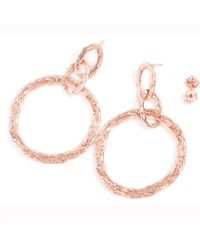 LaParra Jewels Rose Gold Loop Earrings - Multicolor
