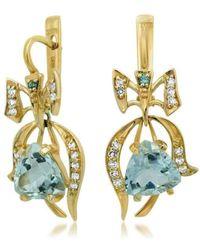 Drukker Designs - Yellow Gold Prasiolite Earrings - Lyst