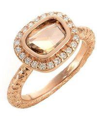 Susan Wheeler Design - Rose Cut Fine Brown Diamond Ring - Lyst