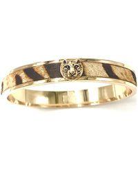 Alexa K Tiger Bangle Gold - Metallic