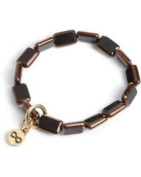 Eva Michele - Black W Copper Infinity Bracelet - Lyst